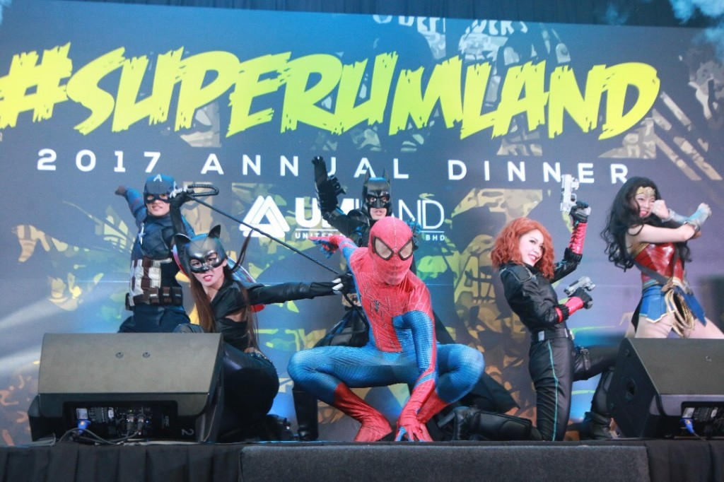 Malaysia events' dancers and super heroes cosplayer