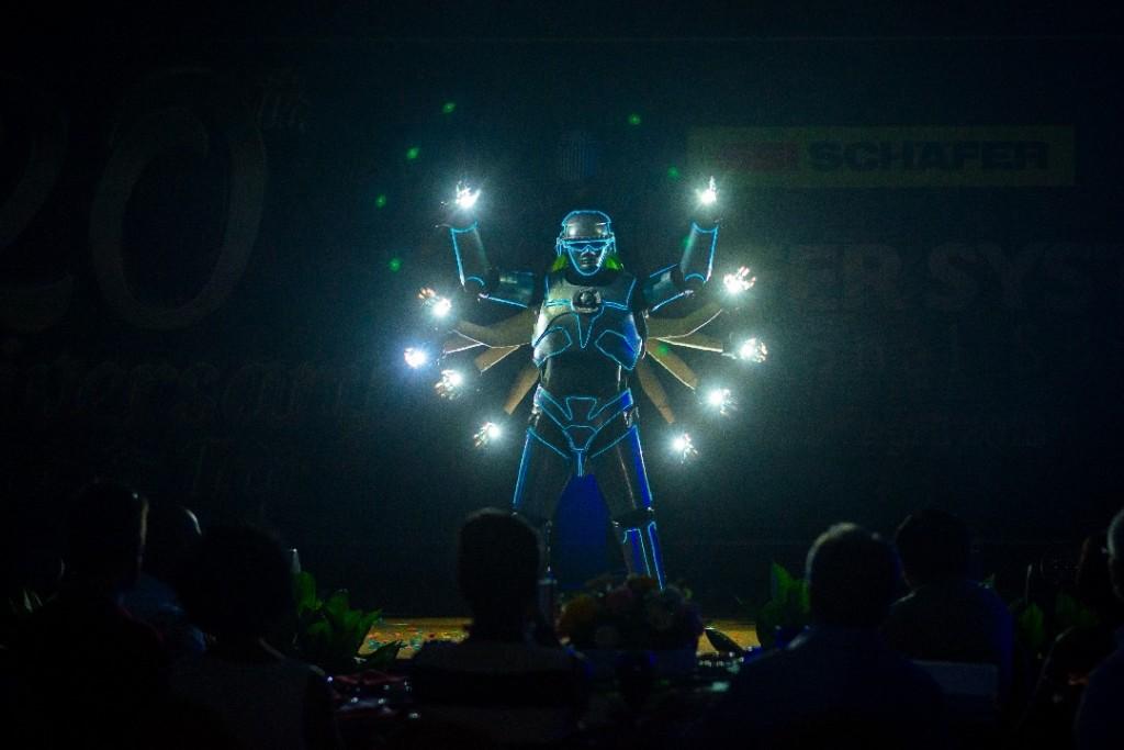 Malaysia LED robot dance