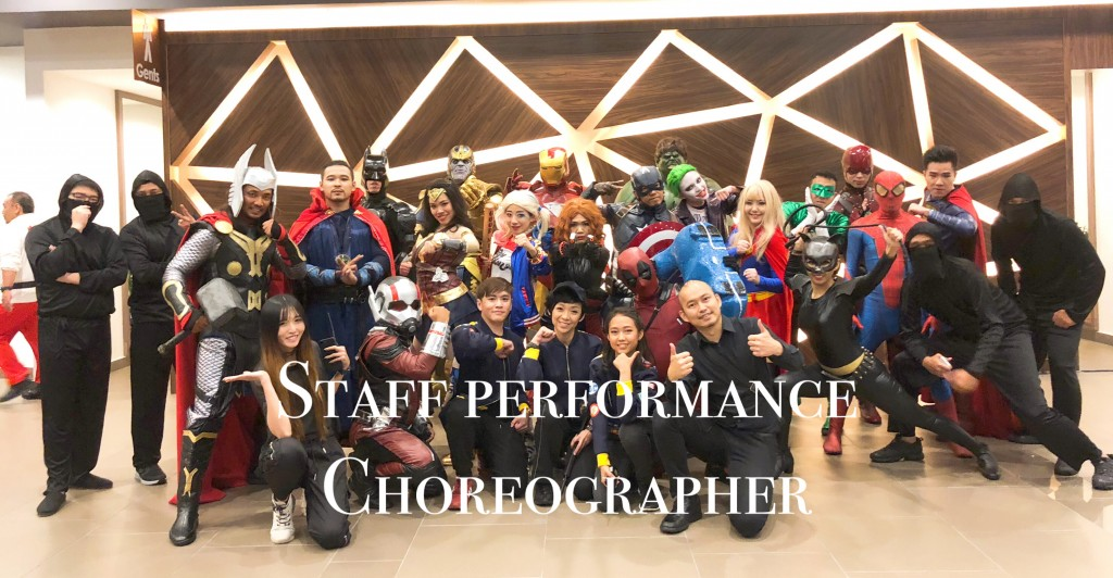 Choreographer for staff performances.